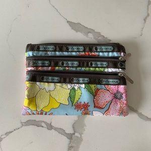 Lesportsac 3 Pocket Makeup Bag Floral Print